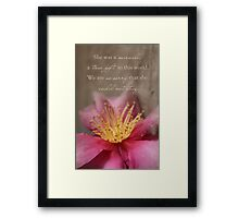 She Was A Miracle Framed Print