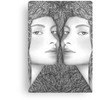 The Mirror Slips Canvas Print