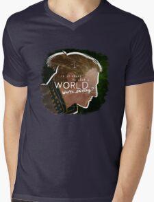 Anders - A World Worth Saving Mens V-Neck T-Shirt