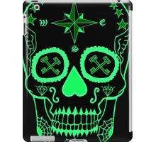Navy LS - Day of the Dead Neon Green iPad Case/Skin