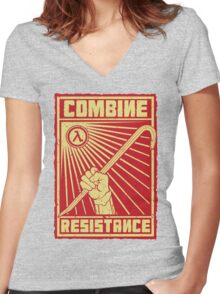 Combine Resistance Women's Fitted V-Neck T-Shirt