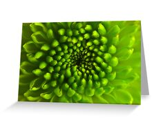 Green Vortex  Greeting Card
