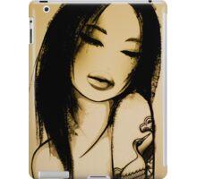 black and white girl iPad Case/Skin