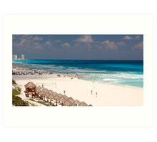 cancun beach Art Print