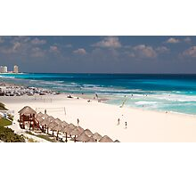 cancun beach Photographic Print