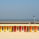 Le Touquet Beach Huts by Louise Green