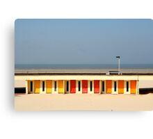 Le Touquet Beach Huts Canvas Print