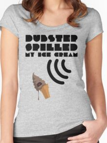Dubstep Spilled My Icecream - Chocolate Women's Fitted Scoop T-Shirt