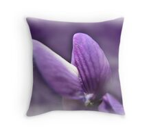 Purple Diva Throw Pillow