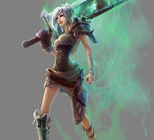 League of Legends Riven HQ by Dhaxina