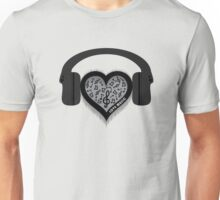 Love Music rhythm heart beat Unisex T-Shirt