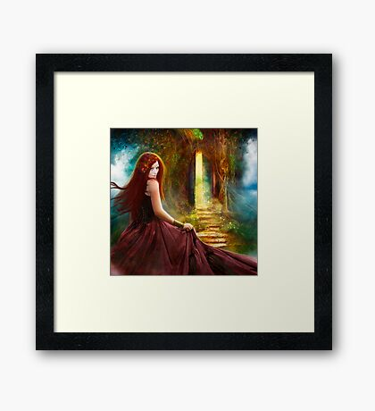 When Inspiration Knocks Framed Print