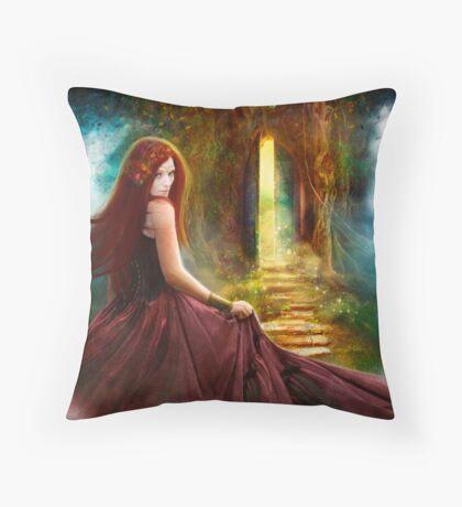 When Inspiration Knocks Throw Pillow