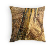 Fence Posts in the Fall - Northeast Iowa Throw Pillow