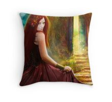 When Inspiration Knocks - card Throw Pillow