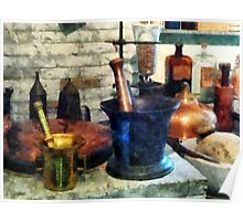 Three Mortar and Pestles Poster