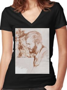 Bon Iver / Justin Vernon Women's Fitted V-Neck T-Shirt