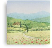 Tuscan Vineyard, Tuscany, Italy Canvas Print