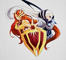 League of Legends Leona and Diana HQ by Dhaxina