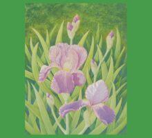 Irises, Wisley Gardens, Surrey One Piece - Short Sleeve