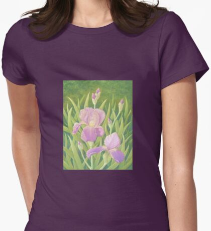 Irises, Wisley Gardens, Surrey Womens Fitted T-Shirt