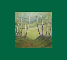 Silver Birches in Spring, Walton Heath, Surrey Unisex T-Shirt