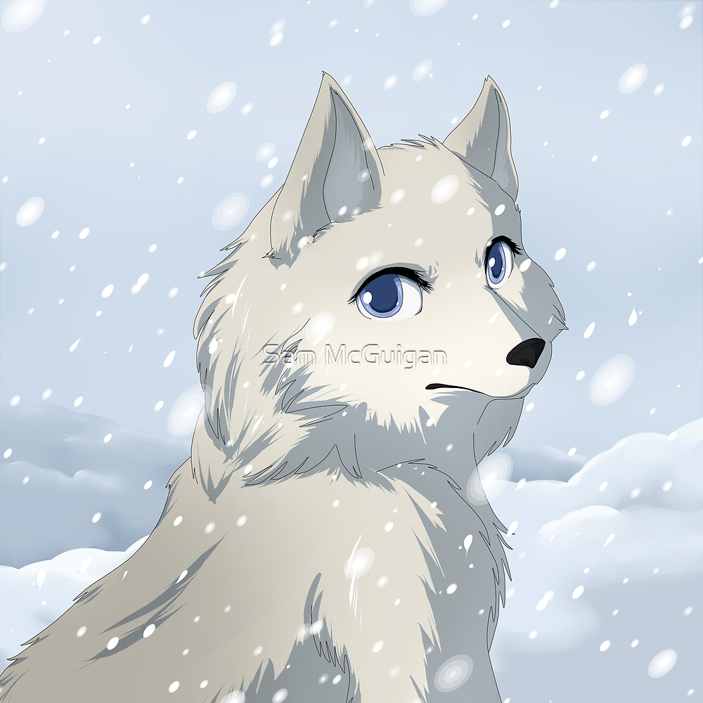 Winter wolf by Tunnelfrog