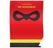 No368 My Incredibles minimal movie poster Poster