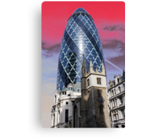 Old and new - Gherkin Canvas Print