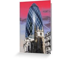 Old and new - Gherkin Greeting Card