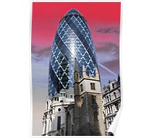 Old and new - Gherkin Poster