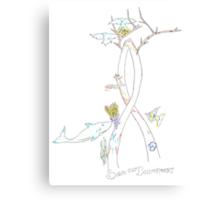 Environmental Awareness Ribbon Canvas Print