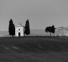 Chapel Vitaleta Val D'orcia Siena by Nigel  Dean