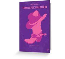 No369 My Brokeback Mountain minimal movie poster Greeting Card