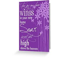Soar Sweet Girl Greeting Card