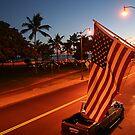Waikiki Beach by Night, Honolulu OAHU by Atanas Bozhikov NASKO