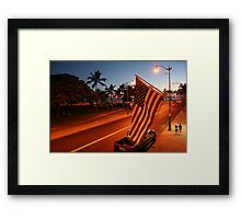 Waikiki Beach by Night, Honolulu OAHU Framed Print