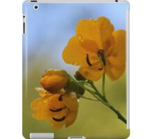 yellow against a blue sky iPad Case/Skin