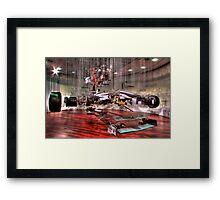 Mercedes GP Exploded - HDR Framed Print
