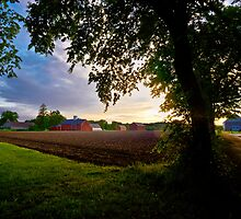 Glastonbury at Dusk by Eric Lindquist