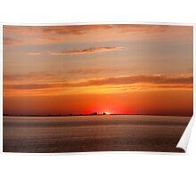 Sunrise over Far Rockaway, NY Poster