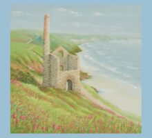 Wheal Coates Mine, St Agnes, Cornwall Kids Tee