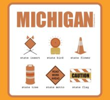 Michigan State Symbols - Sticker by LTDesignStudio