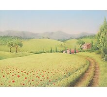 Tuscan Farmhouse, Tuscany, Italy Photographic Print