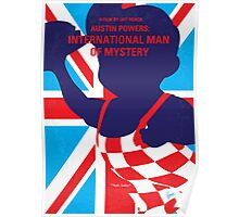 No373 My Austin Powers I minimal movie poster Poster