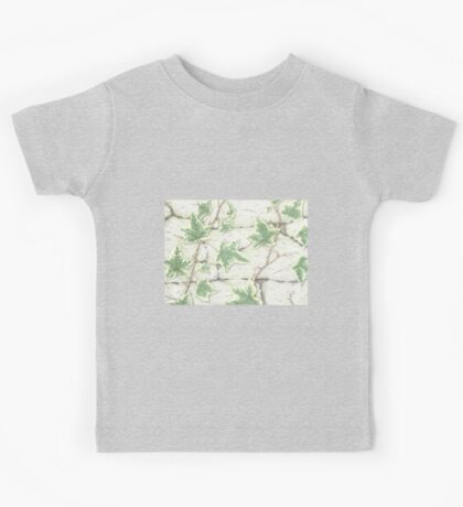 Ivy on a Dry Stone Wall Kids Tee