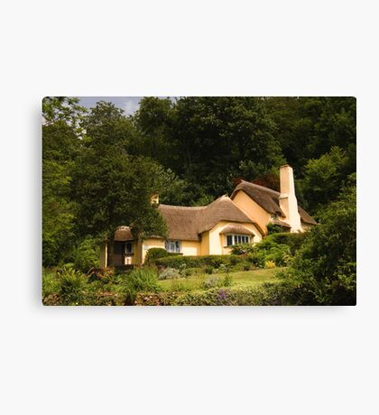 Selworthy Village Shop, Exmoor Canvas Print