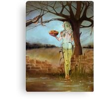 """Stilled Life"" a new take on Eve and the Garden of Eden Canvas Print"