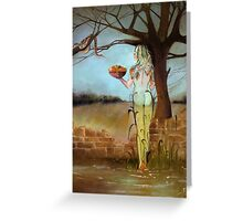"""Stilled Life"" a new take on Eve and the Garden of Eden Greeting Card"