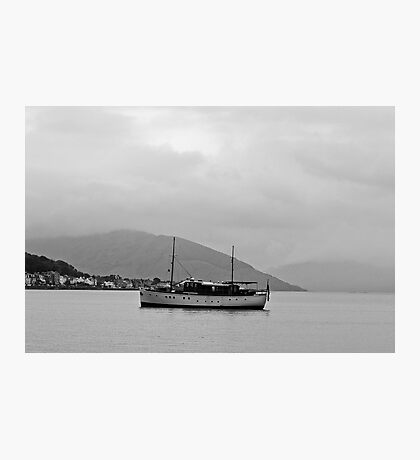 Cabin Cruiser Rothesay Harbour Isle of Bute Photographic Print